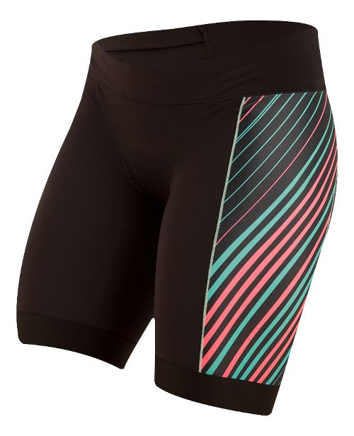 Womens Pearl Izumi ELITE Pursuit Tri Unlined Shorts - Black/Atomic Red XS