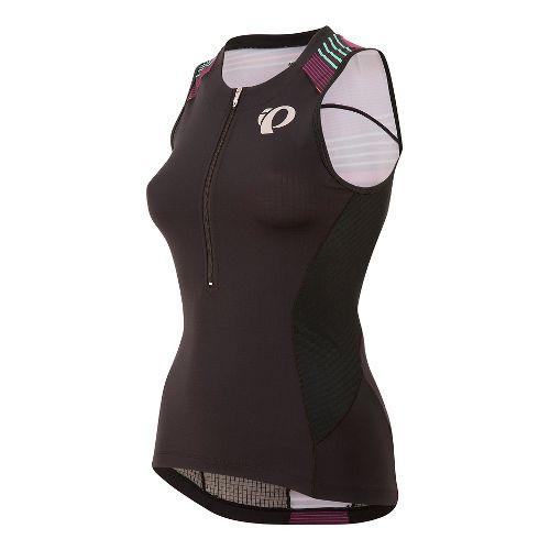 Womens Pearl Izumi ELITE Pursuit Tri Jersey Sleeveless & Tank Technical Tops - Black/Purple ...