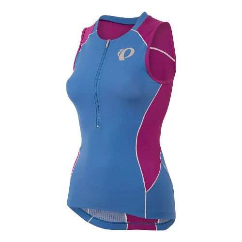 Womens Pearl Izumi ELITE Pursuit Tri Jersey Sleeveless & Tank Technical Tops - Sky Blue ...