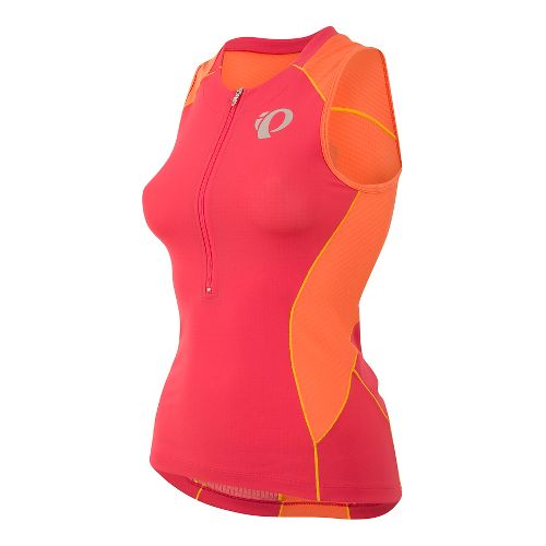 Womens Pearl Izumi ELITE Pursuit Tri Jersey Sleeveless & Tank Technical Tops - Rouge Red ...