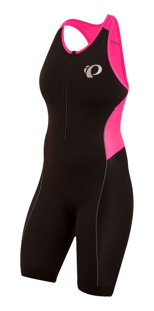 Womens Pearl Izumi ELITE Pursuit Triathlon Suits UniSuits - Black/Pink M