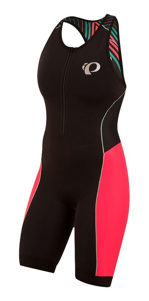 Womens Pearl Izumi ELITE Pursuit Triathlon Suits UniSuits - Black/Red S