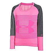 Kids Under Armour Girls Premiere Pullover Long Sleeve Technical Tops