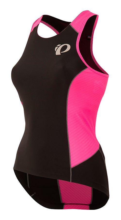 Womens Pearl Izumi ELITE Pursuit Tri Sleeveless & Tank Tops Technical Tops - Black/Pink XS