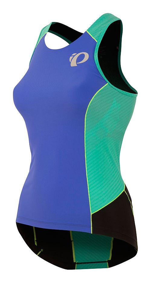 Womens Pearl Izumi ELITE Pursuit Tri Sleeveless & Tank Tops Technical Tops - Blue/Atlantis XL