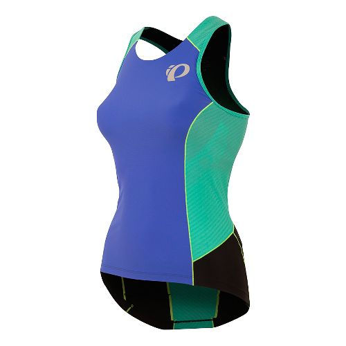 Womens Pearl Izumi ELITE Pursuit Tri Sleeveless & Tank Tops Technical Tops - Blue/Atlantis XS
