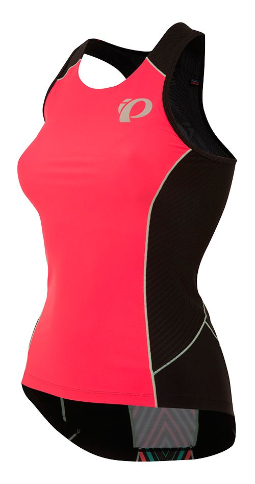Womens Pearl Izumi ELITE Pursuit Tri Sleeveless & Tank Tops Technical Tops - Red Whirl XL