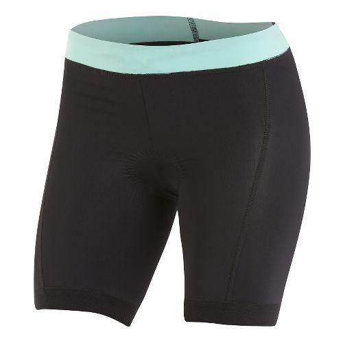 Womens Pearl Izumi SELECT Pursuit Tri Unlined Shorts - Black/Aqua Mint M