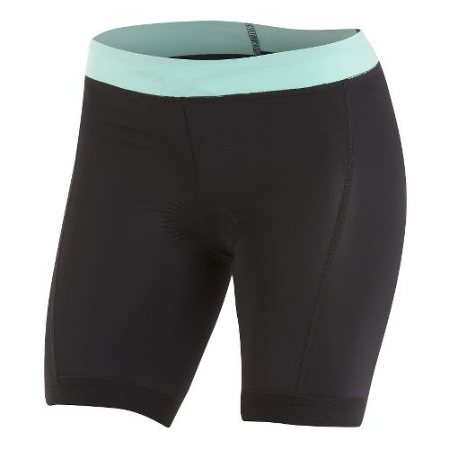 Womens Pearl Izumi SELECT Pursuit Tri Unlined Shorts - Black/Aqua Mint XS