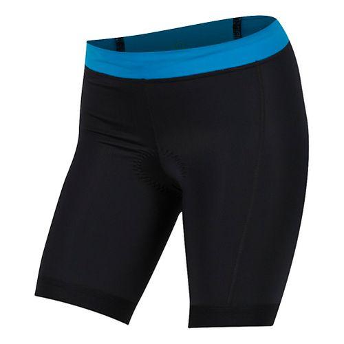 Womens Pearl Izumi SELECT Pursuit Tri Unlined Shorts - Black Atomic/Blue M