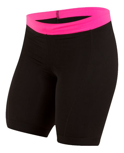 Womens Pearl Izumi SELECT Pursuit Tri Unlined Shorts - Black/Screaming Pink XL