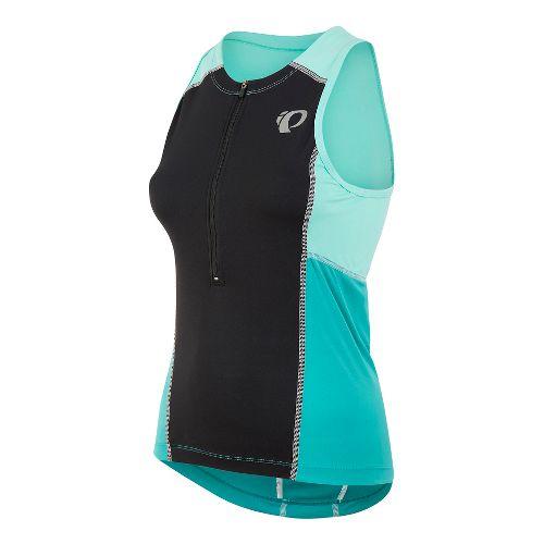 Womens Pearl Izumi SELECT Pursuit Tri Jersey Sleeveless & Tank Technical Tops - Black/Aqua Mint ...