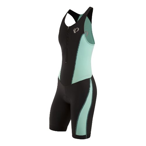 Womens Pearl Izumi SELECT Pursuit Tri Triathlon Suits UniSuits - Black/Aqua Mint XS