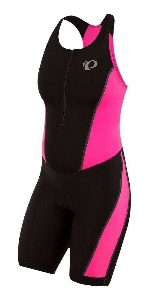 Womens Pearl Izumi SELECT Pursuit Triathlon Suits UniSuits - Black/Pink XS