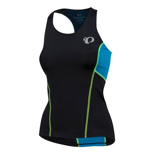 Womens Pearl Izumi SELECT Pursuit Tri Sleeveless & Tank Tops Technical Tops - Black/Atomic Blue XL