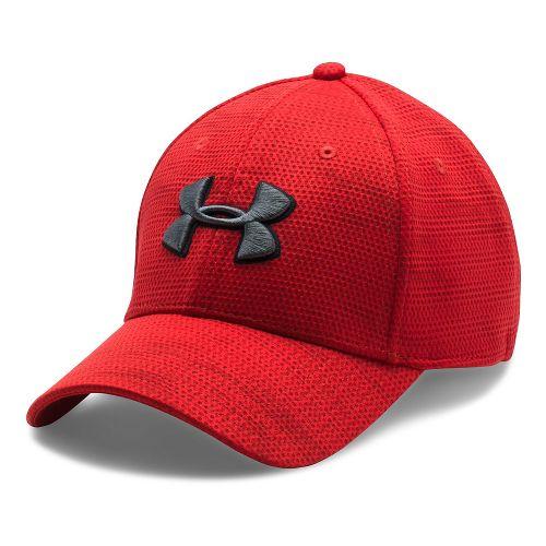 Mens Under Armour Print Blitzing Stretch Fit Cap Headwear - Red/Maroon XL/XXL