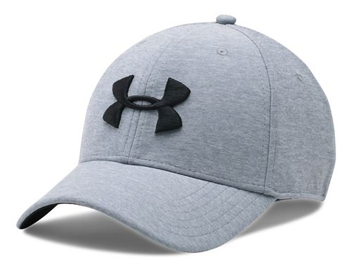 Mens Under Armour TwistTech Closer Cap Headwear - Steel/Black M/L
