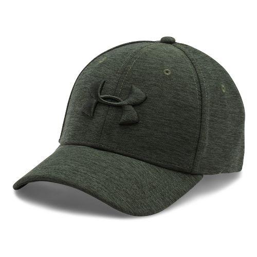 Mens Under Armour TwistTech Closer Cap Headwear - Downtown Green/Green M/L