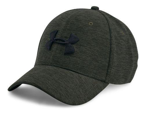 Mens Under Armour TwistTech Closer Cap Headwear - Downtown Green M/L