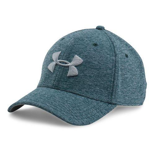 Mens Under Armour TwistTech Closer Cap Headwear - Nova Teal/Grey M/L