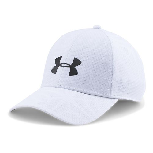 Mens Under Armour CoolSwitch Train Cap Headwear - White M/L