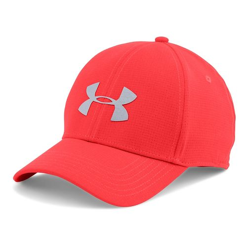Mens Under Armour CoolSwitch Train Cap Headwear - Rocket Red L/XL