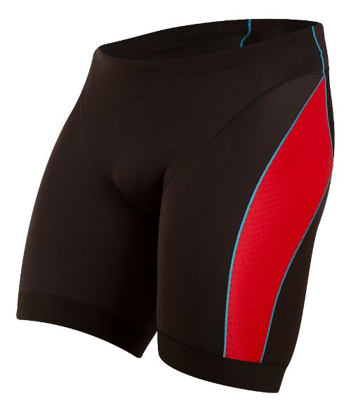 Mens Pearl Izumi ELITE Pursuit Tri Unlined Shorts - Black/True Red XL