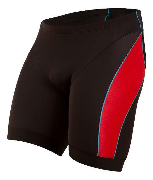 Mens Pearl Izumi ELITE Pursuit Tri Unlined Shorts - Black/True Red XXL