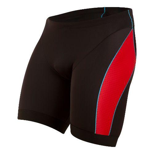 Mens Pearl Izumi ELITE Pursuit Tri Unlined Shorts - Black/True Red S
