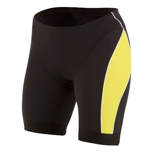 Mens Pearl Izumi ELITE Pursuit Tri Unlined Shorts - Black/Lime Punch S