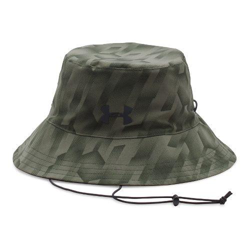 Mens Under Armour Switchback 2.0 Bucket Headwear - Downtown Green/Black