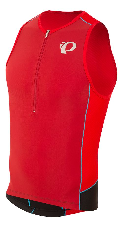 Mens Pearl Izumi ELITE Pursuit Tri Singlet Sleeveless & Tank Tops Technical Tops - Red/Chili ...