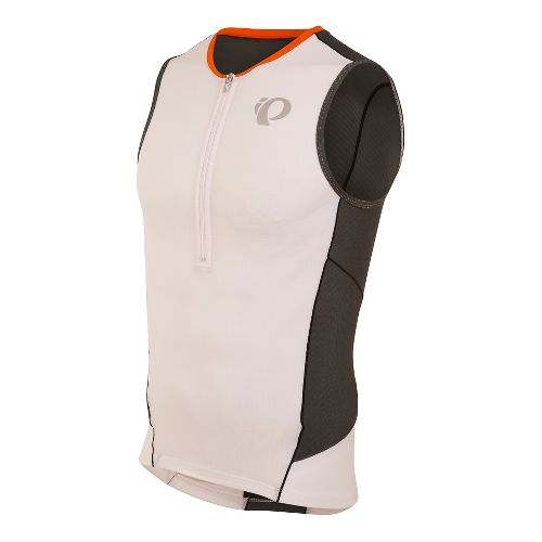 Mens Pearl Izumi ELITE Pursuit Tri Jersey Sleeveless & Tank Technical Tops - White/Shadow Grey ...