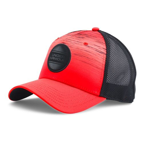 Mens Under Armour Ombre Trucker Cap Headwear - Rocket Red