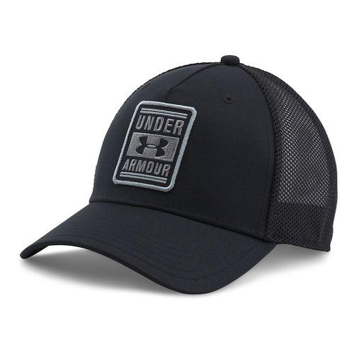 Mens Under Armour Trucker Low Crown Cap Headwear - Black/Steel