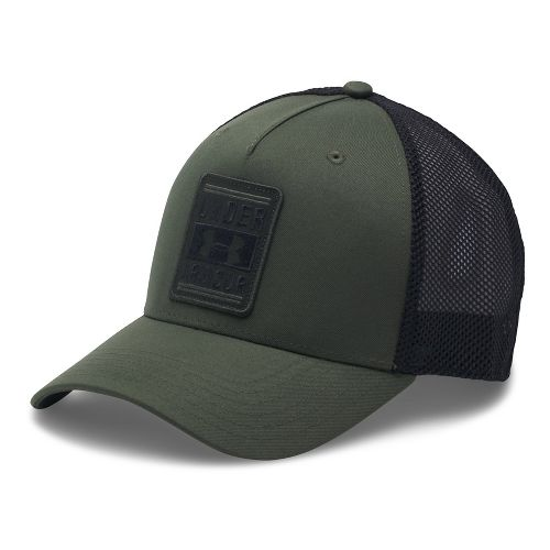 Mens Under Armour Trucker Low Crown Cap Headwear - Downtown Green/Black