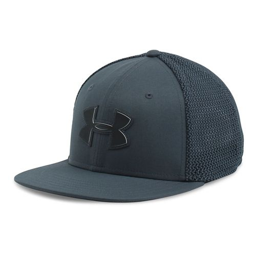 Mens Under Armour Mesh Knit Cap Headwear - Stealth Grey
