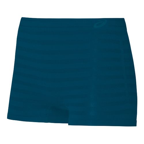 Womens ASICS ASX Boy Brief Underwear Bottoms - Dark Teal M/L