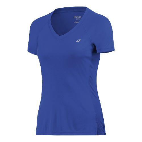 Womens ASICS ASX Dry Short Sleeve Technical Tops - Royal Blue S