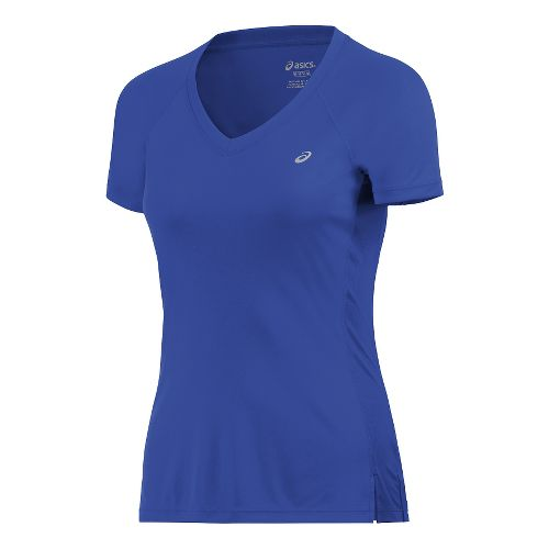 Womens ASICS ASX Dry Short Sleeve Technical Tops - Royal Blue XS