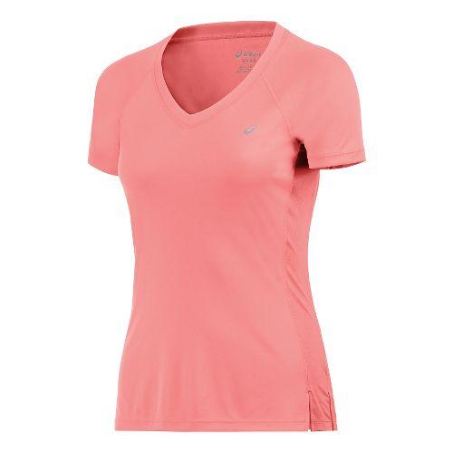 Womens ASICS ASX Dry Short Sleeve Technical Tops - Orange M