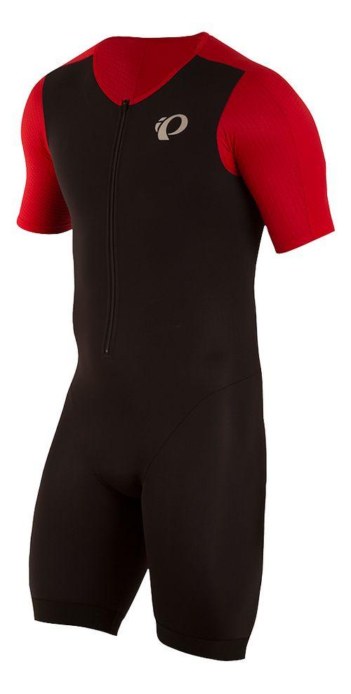 Mens Pearl Izumi ELITE Pursuit Tri Speed Suit Triathlon Suits UniSuits - Black/Red XL