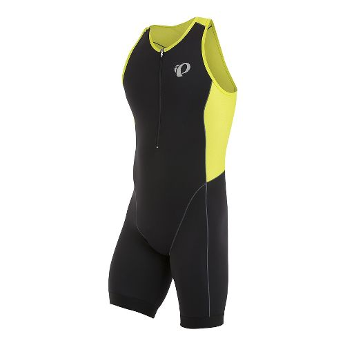 Mens Pearl Izumi Elite Pursuit Tri Triathlon Suits UniSuits - Black/Lime Punch L