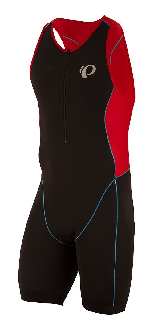 Mens Pearl Izumi Elite Pursuit Triathlon Suits UniSuits - Black/Red L