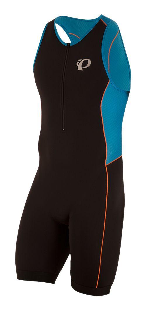 Mens Pearl Izumi Elite Pursuit Triathlon Suits UniSuits - Black/Blue XS