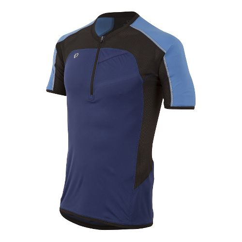 Mens Pearl Izumi Pursuit Endurance Short Sleeve Technical Tops - Blue Depths L