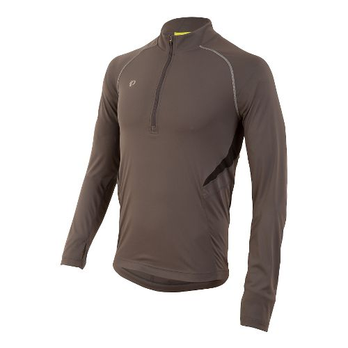 Mens Pearl Izumi Pursuit Long Sleeve Technical Tops - Shadow Grey M