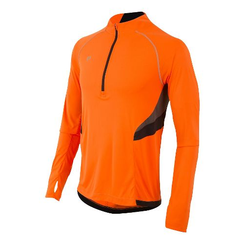 Mens Pearl Izumi Pursuit Long Sleeve Technical Tops - Screaming Orange XL