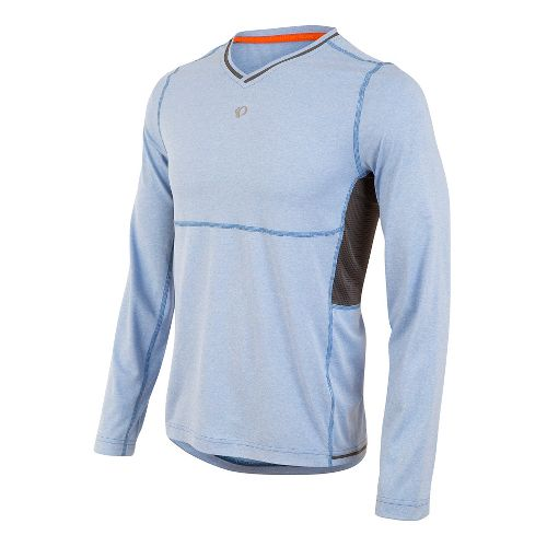 Mens Pearl Izumi Escape Long Sleeve Technical Tops - Sky Blue XXL