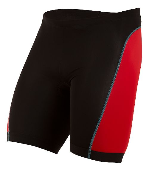 Mens Pearl Izumi SELECT Pursuit Tri Unlined Shorts - Black/True Red XS